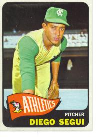 1965 Topps Baseball Cards      197     Diego Segui