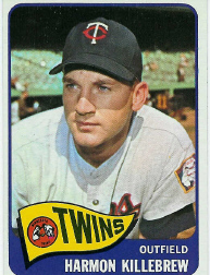 1965 Topps Baseball Cards      400     Harmon Killebrew