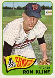 1965 Topps Baseball Cards      056      Ron Kline