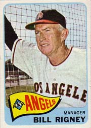 1965 Topps Baseball Cards      066      Bill Rigney MG