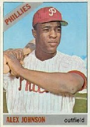 1966 Topps Baseball Cards      104A    Alex Johnson TR