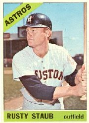 1966 Topps Baseball Cards      106     Rusty Staub
