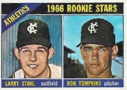 1966 Topps Baseball Cards      107     Rookie Stars-Larry Stahl RC-Ron Tompkins RC