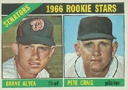 1966 Topps Baseball Cards      011      Rookie Stars-Brant Alyea RC-Pete Craig