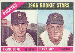 1966 Topps Baseball Cards      123     Rookie Stars-Frank Bork-Jerry May