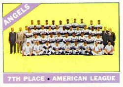1966 Topps Baseball Cards      131     California Angels TC