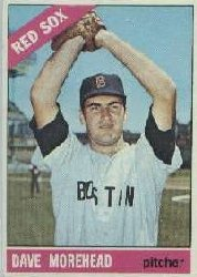 1966 Topps Baseball Cards      135     Dave Morehead