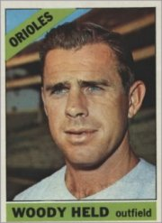 1966 Topps Baseball Cards      136     Woody Held