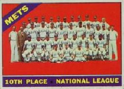 1966 Topps Baseball Cards      172     New York Mets TC