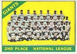 1966 Topps Baseball Cards      019      San Francisco Giants TC