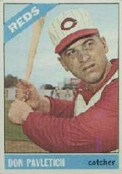 1966 Topps Baseball Cards      196     Don Pavletich