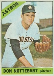 1966 Topps Baseball Cards      021      Don Nottebart