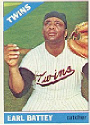 1966 Topps Baseball Cards      240     Earl Battey