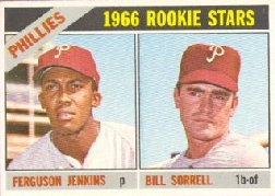 1966 Topps Baseball Cards      254     Rookie Stars-Fergie Jenkins RC-Bill Sorrell RC