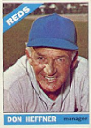 1966 Topps Baseball Cards      269     Don Heffner MG
