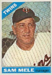 1966 Topps Baseball Cards      003       Sam Mele MG