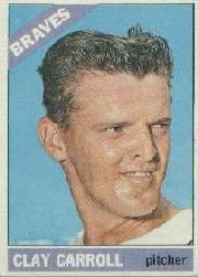 1966 Topps Baseball Cards      307     Clay Carroll
