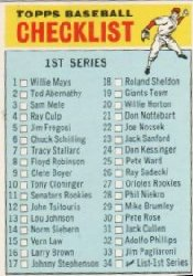 1966 Topps Baseball Cards      034      Checklist 1