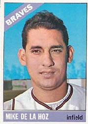 1966 Topps Baseball Cards      346     Mike de la Hoz