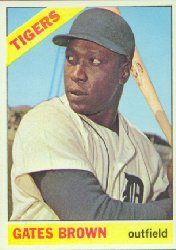 1966 Topps Baseball Cards      362     Gates Brown