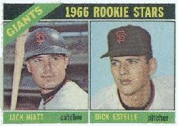 1966 Topps Baseball Cards      373     Rookie Stars-Jack Hiatt-Dick Estelle