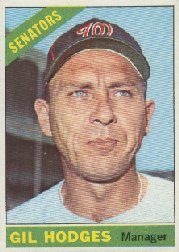 1966 Topps Baseball Cards      386     Gil Hodges MG