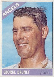 1966 Topps Baseball Cards      393     George Brunet