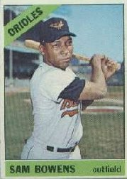 1966 Topps Baseball Cards      412     Sam Bowens