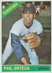 1966 Topps Baseball Cards      416     Phil Ortega