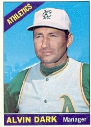 1966 Topps Baseball Cards      433     Alvin Dark MG