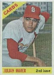 1966 Topps Baseball Cards      436     Julian Javier