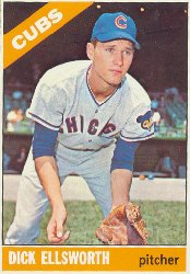 1966 Topps Baseball Cards      447     Dick Ellsworth UER Hubbs