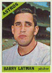1966 Topps Baseball Cards      451     Barry Latman