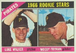 1966 Topps Baseball Cards      498     Rookie Stars-Luke Walker RC-Woody Fryman RC