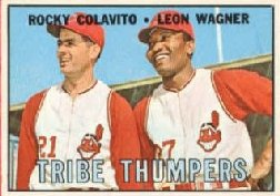 1967 Topps Baseball Cards      109     Tribe Thumpers-Rocky Colavito-Leon Wagner