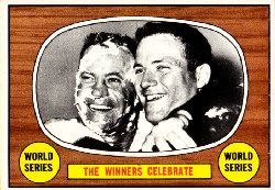 1967 Topps Baseball Cards      155     World Series Summary-Orioles Celebrate