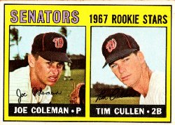 1967 Topps Baseball Cards      167     Rookie Stars-Joe Coleman RC-Tim Cullen RC