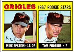 1967 Topps Baseball Cards      204     Rookie Stars-Mike Epstein RC-Tom Phoebus RC