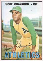 1967 Topps Baseball Cards      344     Ossie Chavarria RC