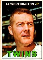 1967 Topps Baseball Cards      399     Al Worthington