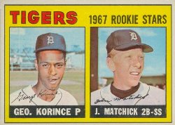 1967 Topps Baseball Cards      072      Rookie Stars-George Korince UER RC (Photo is James Murray Brown)-John (Tom) Matchick RC