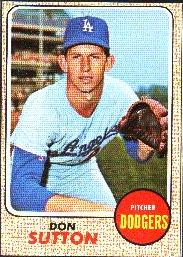 1968 Topps Baseball Cards      103     Don Sutton
