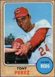 1968 Topps Baseball Cards      130     Tony Perez