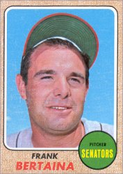 1968 Topps Baseball Cards      131     Frank Bertaina