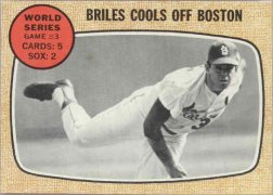 1968 Topps Baseball Cards      153     World Series Game 3-Nelson Briles