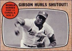 1968 Topps Baseball Cards      154     World Series Game 4-Bob Gibson