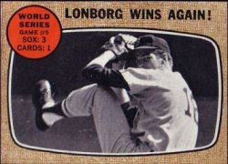 1968 Topps Baseball Cards      155     World Series Game 5-Jim Lonborg