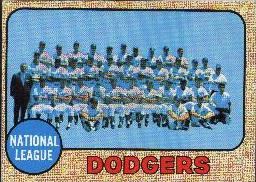 1968 Topps Baseball Cards      168     Los Angeles Dodgers TC
