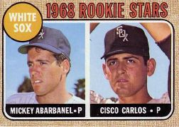 1968 Topps Baseball Cards      287     Rookie Stars-Mickey Abarbanel RC-Cisco Carlos RC
