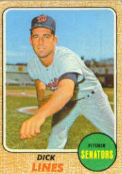 1968 Topps Baseball Cards      291     Dick Lines